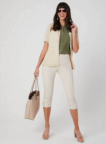 Alison Sheri - Knit Cardigan, Off White, hi-res