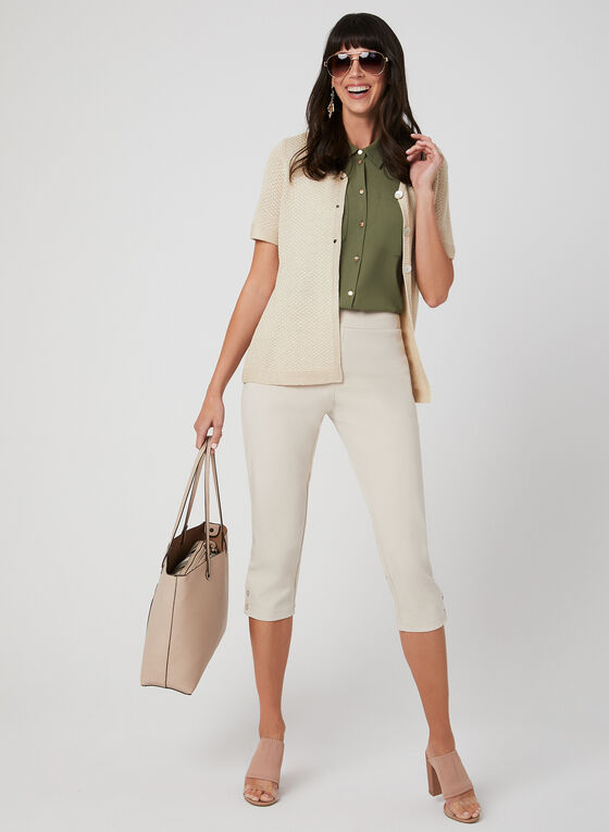 Alison Sheri - Cardigan en tricot léger, Blanc cassé, hi-res