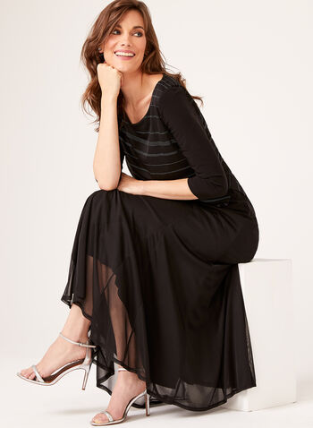 A-Line Maxi Skirt, Black, hi-res