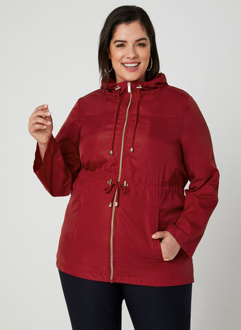 Imperméable long compressible, Rouge, hi-res