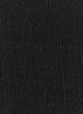Foulard oblong en mousseline, Noir, hi-res