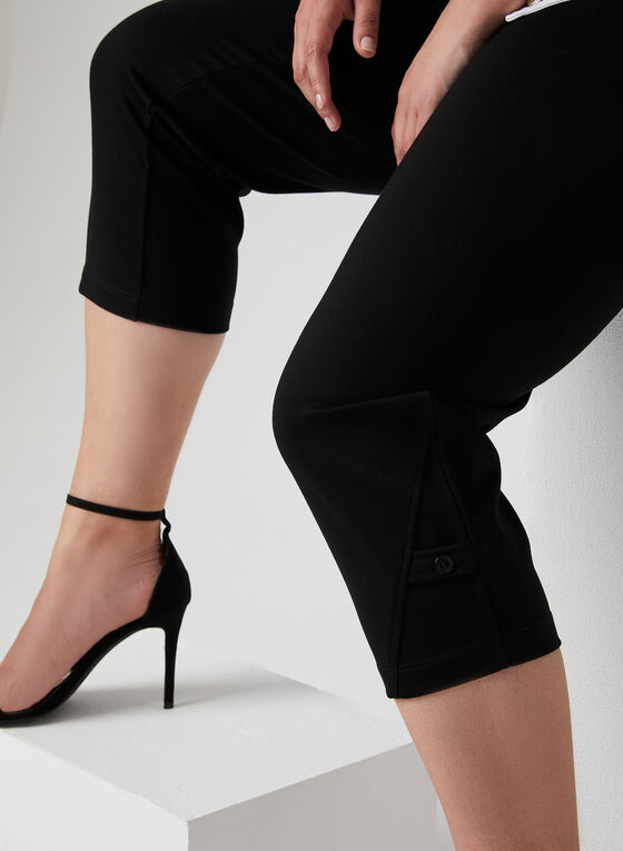 Picadilly - Pull-On Capri Pants, Black, hi-res