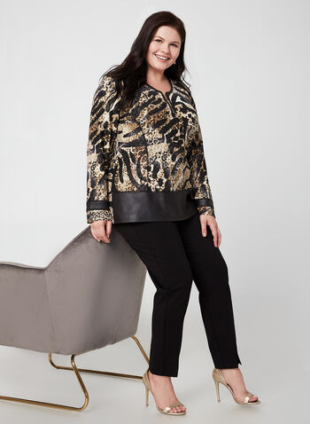 Vex - Animal Print Top, Brown, hi-res,  fall winter 2019, long sleeves, animal print