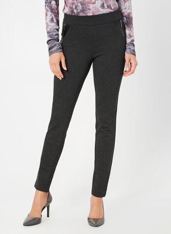 City Fit Slim Leg Pants , Grey,  pants, mid rise, city fit, slim thighs. fall 2019, winter 2019