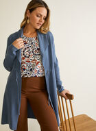 Foldover Collar Cardigan, Blue