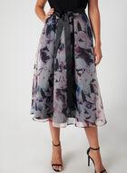 Robe avec jupe fleurie et ruban, Noir