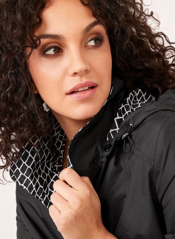 Fen-nelli - Manteau imperméable à capuchon amovible, Noir, hi-res
