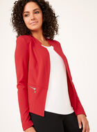 Vex - Open Front Knit Jacket, Red, hi-res