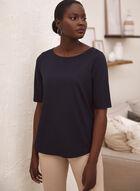 T-shirt à manches coude, Noir