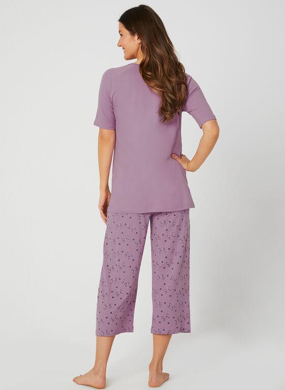 Bellina - Cat Print Pyjama Set, Purple