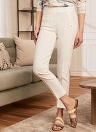 Pantalon coupe cité à jambe étroite, Blanc