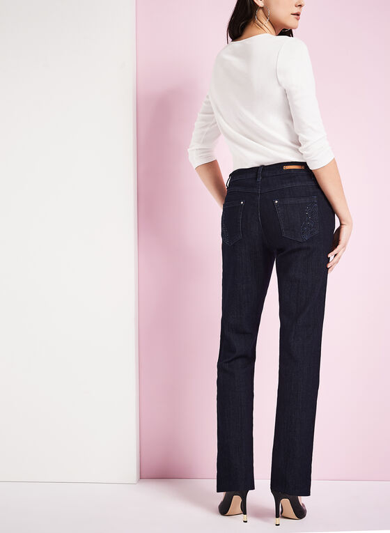Simon Chang - Straight Leg Jeans, Blue, hi-res