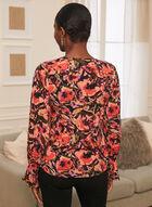 Floral Print Long Sleeve Top, Multi