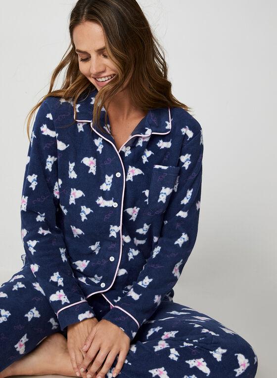 Karmilla Lingerie - Pyjama à motif chiens, Bleu