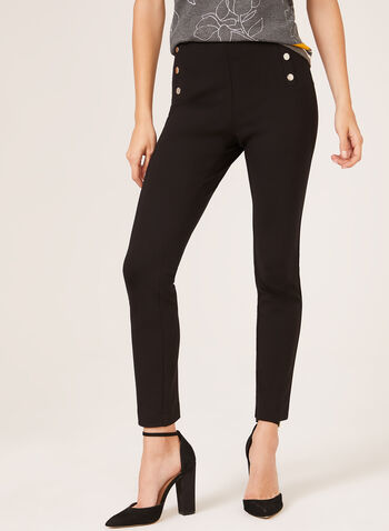 Ponte de Roma Pull-On Pants, Black, hi-res