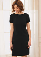 Short Sleeve Day Dress, Black