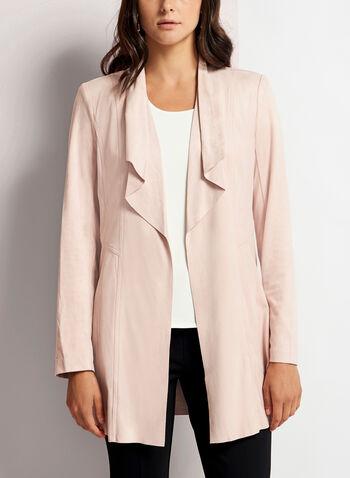 Faux Suede Cascade Jacket, Pink, hi-res