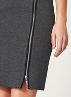 Jupe crayon avec fermeture à zip, Gris, hi-res