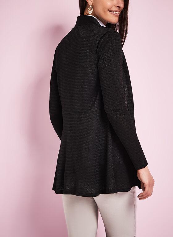Cardigan en tricot jacquard , Noir, hi-res