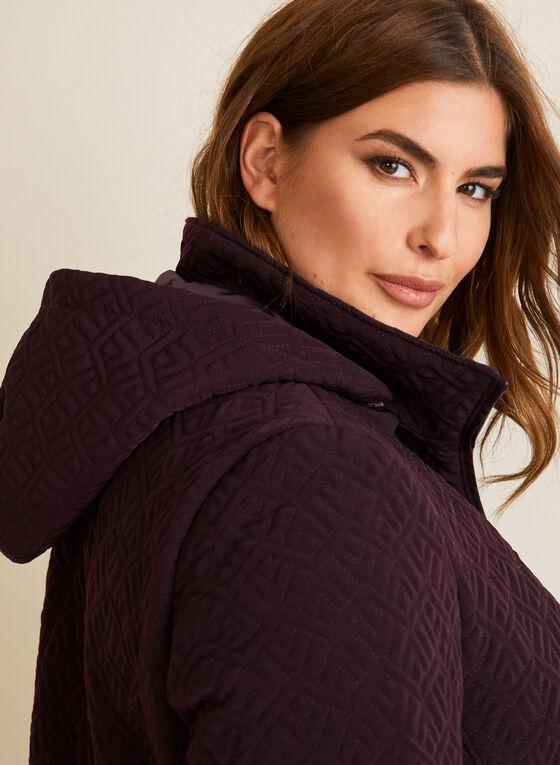 Quilted Raincoat, Purple
