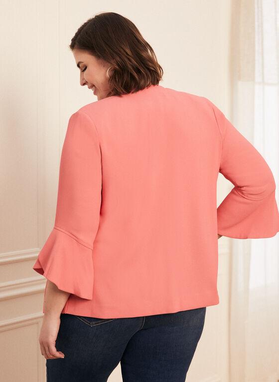 Tulip Sleeve Open Front Jacket, Orange