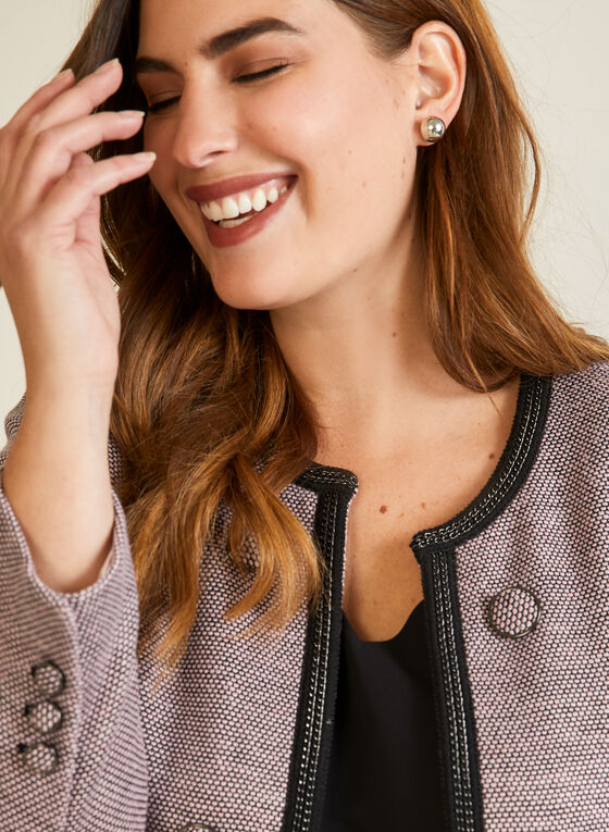 Button Detail Retro Jacket, Pink