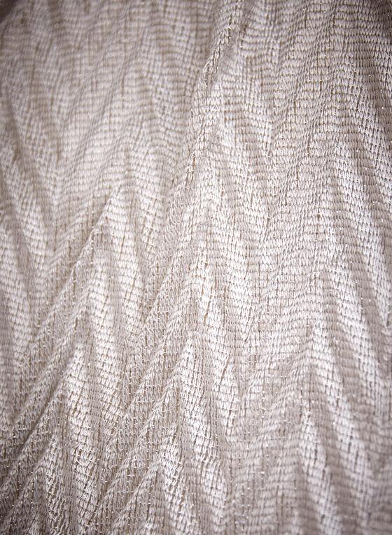 Fringe Detail Scarf, Silver