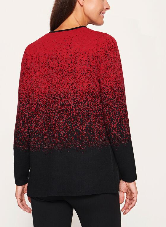 Elena Wang - Cascading Front Knit Cardigan, Black, hi-res