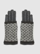 Knit Gloves, Grey