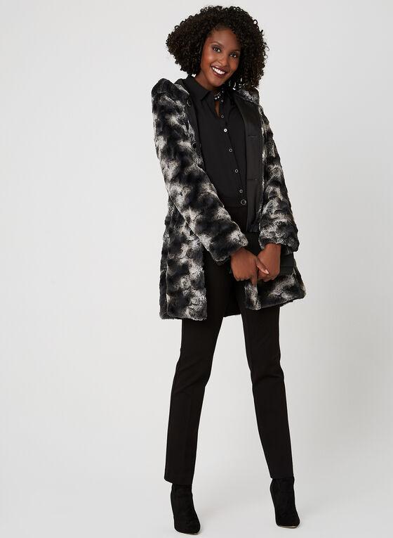 Reversible A-Line Coat, Black