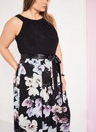 Sleeveless Floral Print Maxi Dress, Black, hi-res