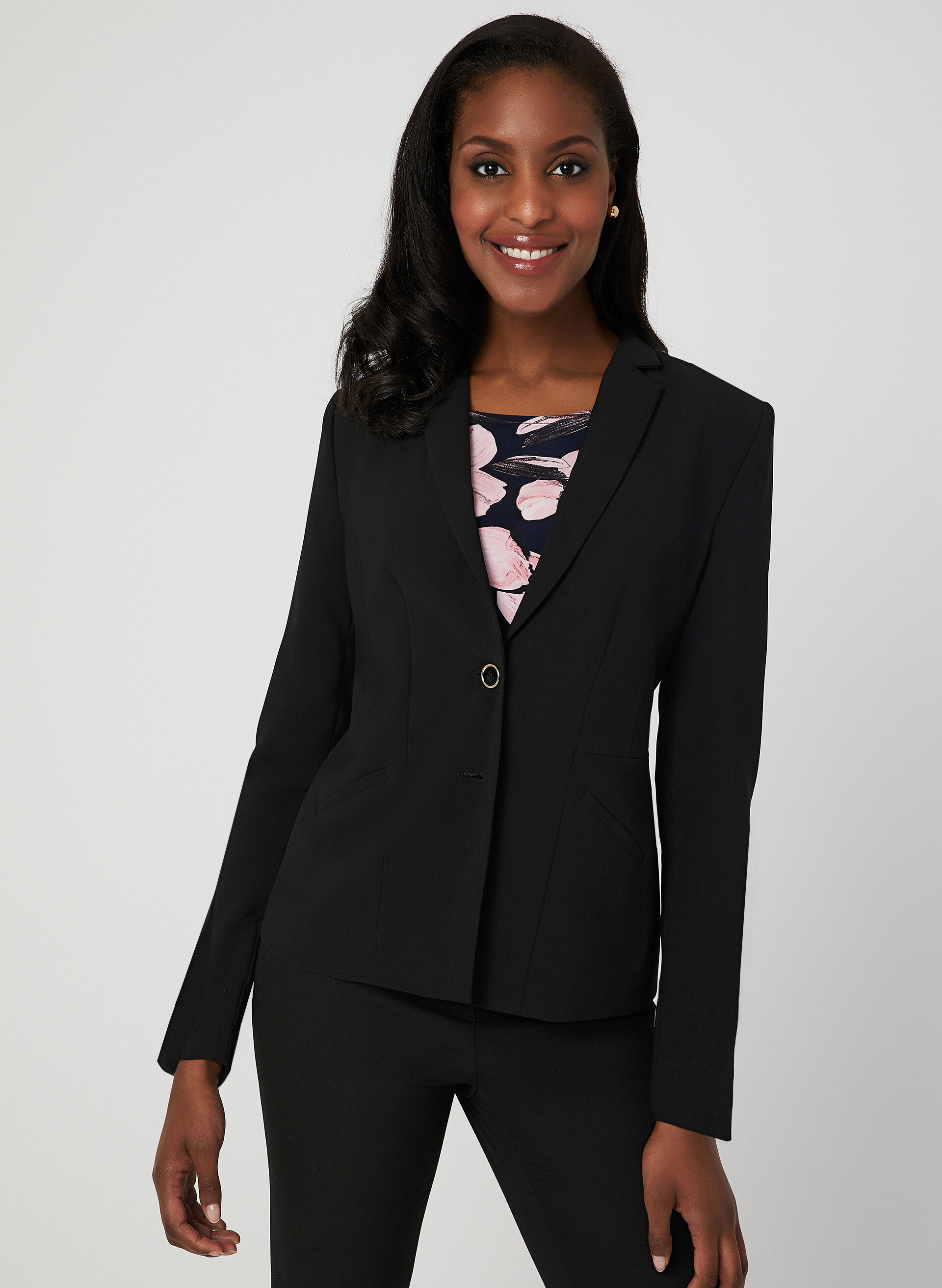 Veste tailleur cuir noir