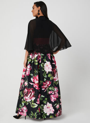 Nina Leonard - Chiffon Bolero, Black,  cover up, spring 2019