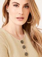 Alison Sheri - Triple Button Detail Knit Cardigan, Grey, hi-res