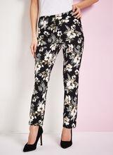 Pantalon 7/8 à fleurs, , hi-res