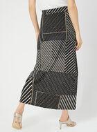 Jupe longue à motif patchwork, Noir, hi-res