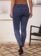 Animal Print Detail Jeans, Blue
