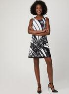 Reversible Geometric Print Dress, Black, hi-res