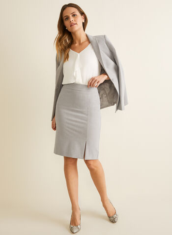 Straight Skirt, Grey,  skirt, straight, lined, spring summer 2020