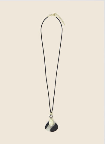 Semi-Precious Stone Pendant Necklace, Black,  necklace, pendant, semi-precious, fall winter 2020