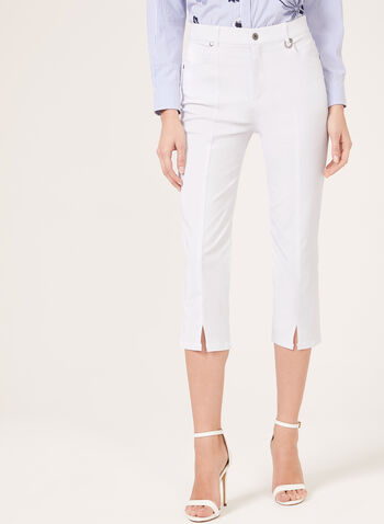 Simon Chang - Straight Leg Capris, White, hi-res