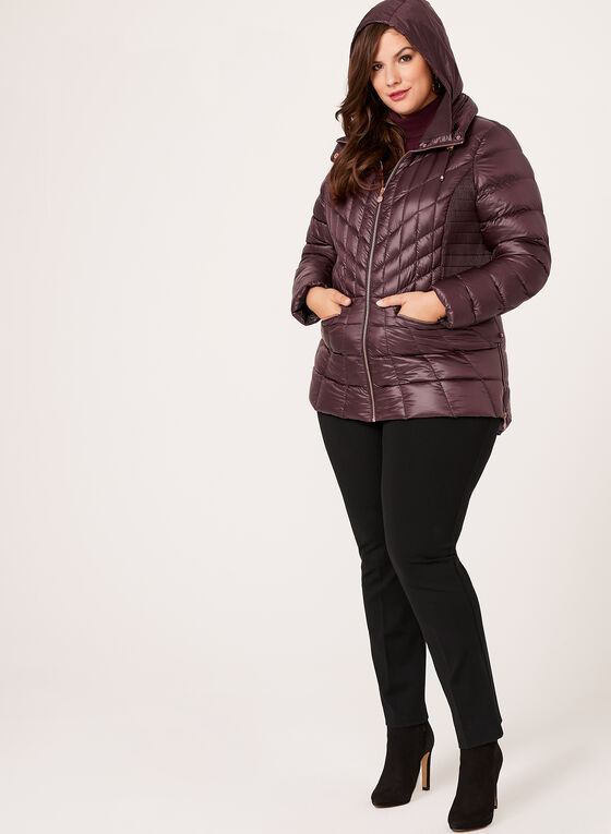 B by Bernardo - PrimaLoft® & Down Filled Packable Coat , Red, hi-res