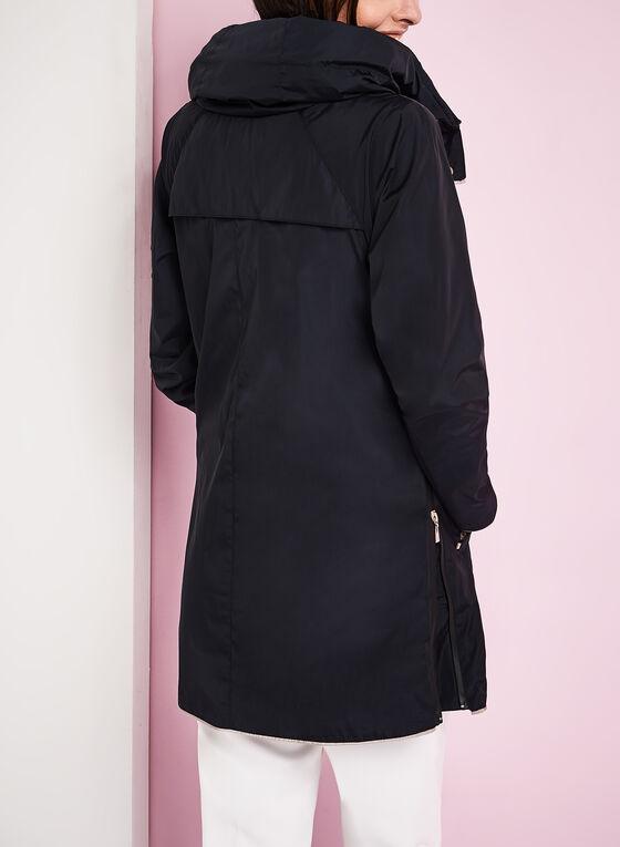 Nuage - Manteau contrasté à capuchon, Bleu, hi-res