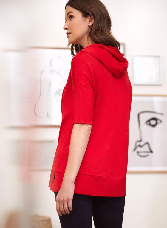 T-shirt à capuchon, Rouge