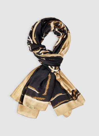 Foulard léger motif raisin, Noir, hi-res,  foulard, léger, raisin, automne hiver 2019