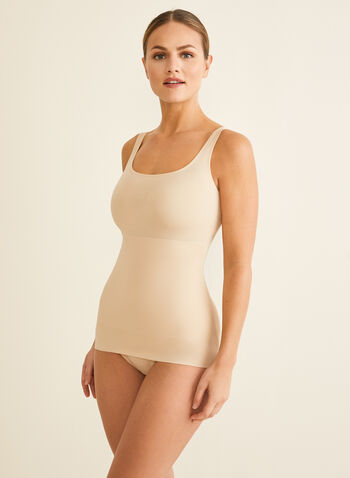 Naomi & Nicole - Shaping Camisole, Off White,  shapewear, camisole, large straps, wonderful edge