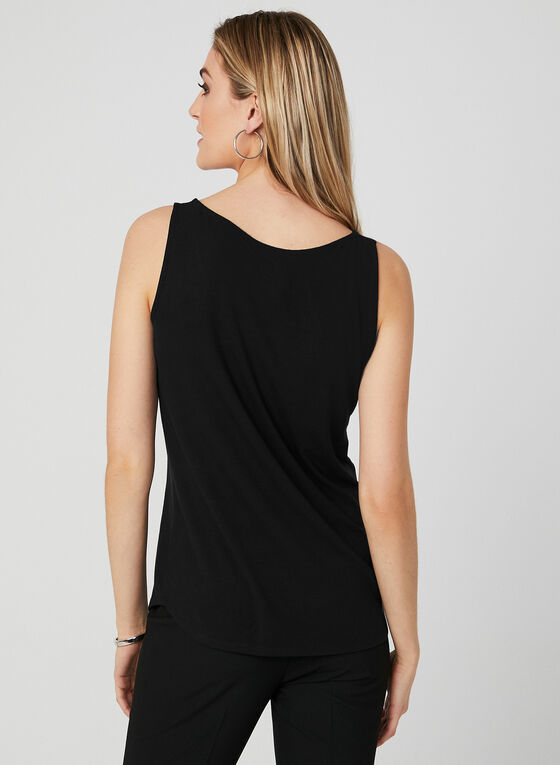 Sleeveless Scoop Neck Top , Black