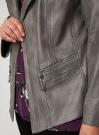Vex - Blazer en faux daim et détails zippés, Gris, hi-res