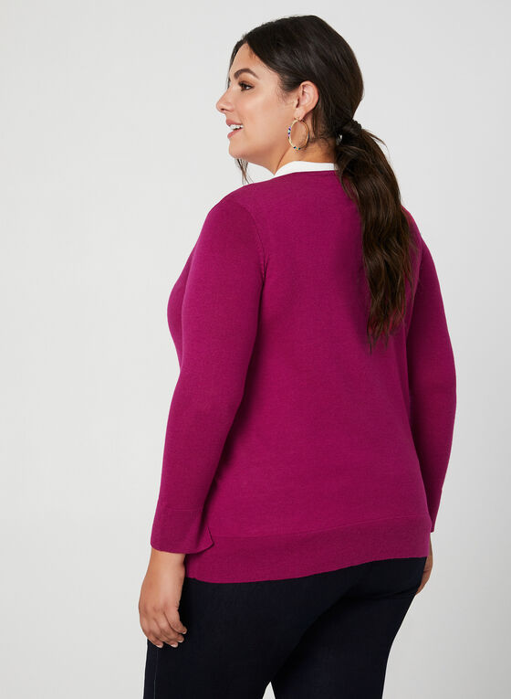 Cardigan boutonné en tricot, Multi