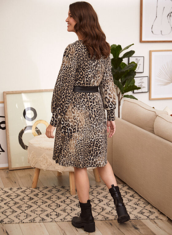Leopard Print Dress, Black